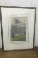 """ARTIST F. WAKEFORD WATERCOLOUR PAINTING """"ALPINE VIEW"""""""