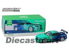 Greenlight 1:18 1999 Nissan Skyline GT-R R34 #1 Falken Tires Green/Blue 19050