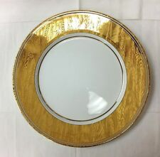 """BILL GOLDSMITH FAUX BOIS SERVICE PLATE 11 7/8"""" SITE COROT LIMOGES FRANCE NEW"""