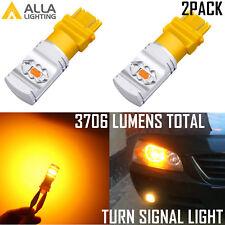 Alla Lighting 3157 ETI-LED Turn Signal Blinker,Parking Light Bulb Bright Yellow