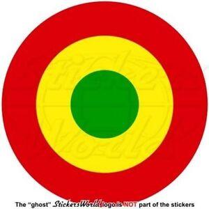 "GHANA AirForce Aircraft Roundel, AFRICA Ghanaian Vinyl Decal Sticker, 4"" (100mm)"
