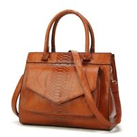 Woman Fashion Bag Serpentine Leather Pouch Ladies Trunk Tote Messenger Handbags