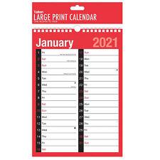 Tallon 2021 A4 Large Print 2 Column Calendar