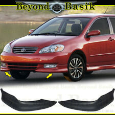 2003-2004 Toyota Corolla S Factory Style Body Kit Front Bumper chins lip L+R 2pc