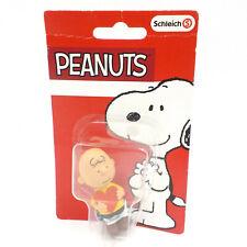 """Schleich Peanuts Figure, Charlie Brown 2"""" Figurine w/ Valentine Day Heart"""