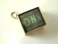 Una sterlina £ 1 Nota Ciondolo vintage oro 9 CARATI 1965 2.8 GRAMMI