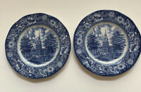 Sale NEW LIBERTY BLUE 2 Dinner Plates Staffordshire Liberty Hall Colonial