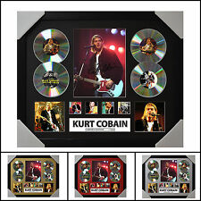 Kurt Cobain 4CD Signed Framed Memorabilia Limited Ed. 2017 - Multiple Variations