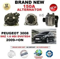 FOR PEUGEOT 3008 9HZ 1.6 HDi DV6TED4 2009-ON 150A ALTERNATOR with CLUTCH PULLEY