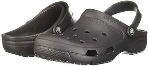 Crocs Coast Clogs Gray Shoes Roomy Fit Grey Sandals Men's Size 11 204151 014 NEW