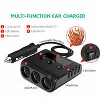DC12-24V Adaptador de mechero de coche 2Way Enchufe de Cargador Divisor de doble