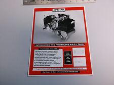 VINTAGE SPEHAR POWERLINE 4.6 C.I. TWIN R/C MODEL AIRPLANE ENGINE AD EX-COND