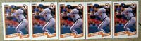 Cal Ripken 1990 Fleer #187 Baltimore Orioles 5ct Card Lot