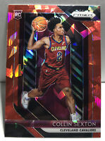 2018-19 Panini Prizm Collin Sexton Red Cracked Ice #170 RC Rookie Card Cavs SP