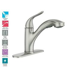 MOEN Brecklyn 1-Handle Pull-Out Sprayer Kitchen Faucet w/Power Clean-Resist St.