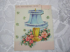 Vintage Anniversary Wish card  with Table Lamp