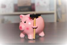 Sparschwein aus Keramik mit Hammer