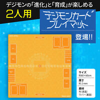 TCG Digimon Card Game Custom Rubber Two-player Playmat w/ Crystal memory gauge