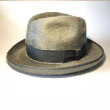 Vintage Canadian Rondelay Fur Felt Fedora Style Hat Gray