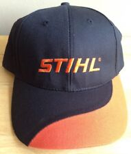 STIHL OUTFITTERS BASEBALL CAP HAT, BLACK AND ORANGE, LICENSED, GENUINE, NEW