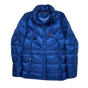 Womens XL Athleta Blue Goose Down Puffer Coat