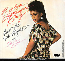 """EVELYN """"CHAMPAGNE"""" KING """"JUST FOR THE NIGHT/So In Love"""" RCA 13914 (1984) 45 & PS"""