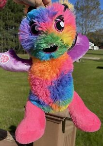 Build A Bear BAB Bright Color Mixter Monster Neon Tie Dye Rainbow 19 inches