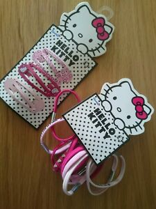 Hello Kitty Bobbles + Hair Clips Pink Bnwt