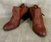 Lucky Brand Machiko Mules Slingback Clogs Women Size 8M Brown Leather High Heel