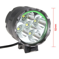 SecurityIng 5X CREE XM-L T6 LED 6000LM LED Head Torch Bicycle Bike Lamp Light