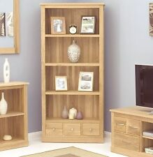 Mobel solid oak living room office furniture large contemporary bookcase