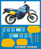 YAMAHA XT 600 Z TENERE 1VJ 86 mod. blù  - adesivi/adhesives/stickers/decal