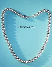 Tiffany & Co 10 mm Perline Argento Sterling Collana 18.25 in (ca. 46.35 cm)