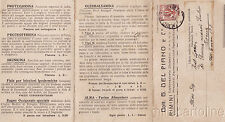 * RIMINI - Tripla Testatina Pubblicitaria Laboratorio Chimico Del Piano 1912