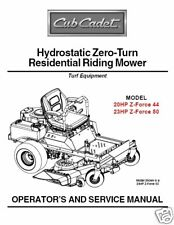 Cub Cadet Zero Turn Z-Force 44 & 50 Service Manual