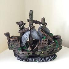 Aquarium Fish Tank Ornament Decoration - Small Shipwreck Boat