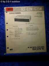 Sony Service Manual ICF C2W /C25W Digital Clock Radio (#3853)