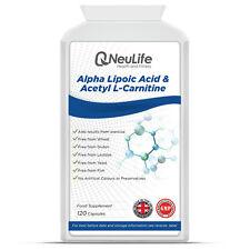 El ácido alfa lipoico & Acetil L-carnitina - 120 Cápsulas