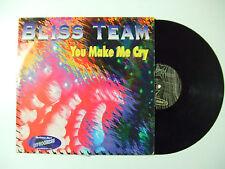 "Bliss Team – You Make Me Cry- Disco Mix 12"" 45 Giri Vinile ITALIA 1995 House"