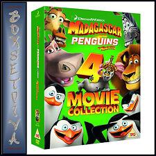 MADAGASCAR & PENGUINS OF MADAGASCAR- 4 MOVIE COLLECTION *BRAND NEW DVD BOXSET***