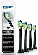 4Pk Black Philips Sonicare W Diamond Clean Genuine Replacement Tooth brush Heads