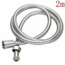 2M Stainless Steel Flexible Chrome Bathroom Shower Hose Pipe Long Mixing Tap
