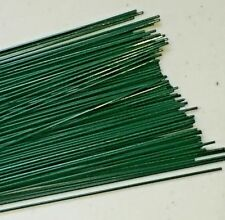 "Florist Wire-Green Plastic Coated - 22 gauge x 9"" (100)"