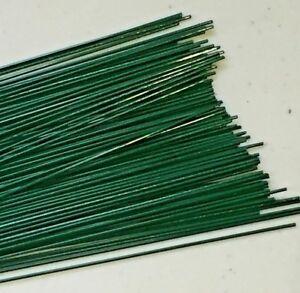"""Florist Wire-Green Plastic Coated - 22 gauge x 9"""" (100)"""