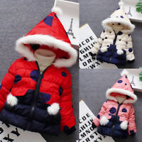 Kids Baby Lovely Cartoon Coat Cloak Jacket Thick Warm Hooded Outerwear Clothes