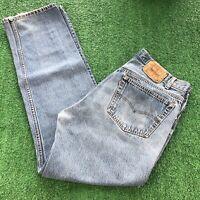 Vintage Levis 501 XX Jeans Denim Straight Leg 100% Cotton Mens 38x36 MADE IN USA