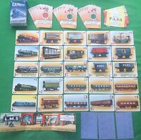 Old 1940s Vintage Pepys 1st Edition * EXPRESS * Railway Train Playing Cards Game