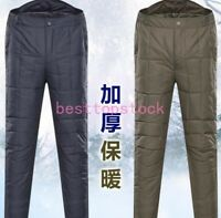 Men/Unisex Ultralight Duck Down Winter Snow Trousers warm Pants Adult Outdoor