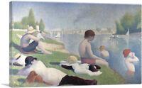 ARTCANVAS Bathers at Asnieres 1884 Canvas Art Print by Georges Seurat