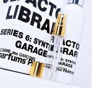 Comme des Garcons Synth Series: Garage 6ml / Gasoline Vetiver Tar Black Cologne